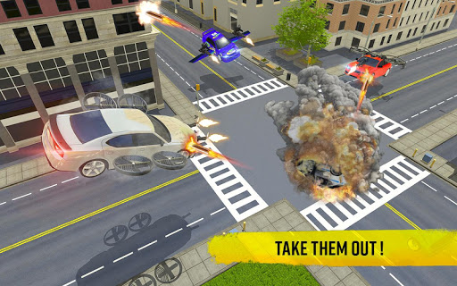Flying Car Shooting Game: Modern Car Games 2020  screenshots 5