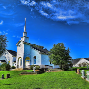 Fox Memorial Baptist Church, Scottsville Virginia by Stacy Knighton - Buildings & Architecture Places of Worship