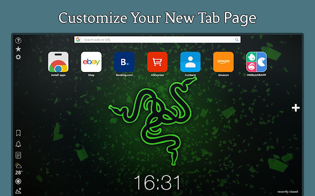 Razer Hd Wallpapers New Tab
