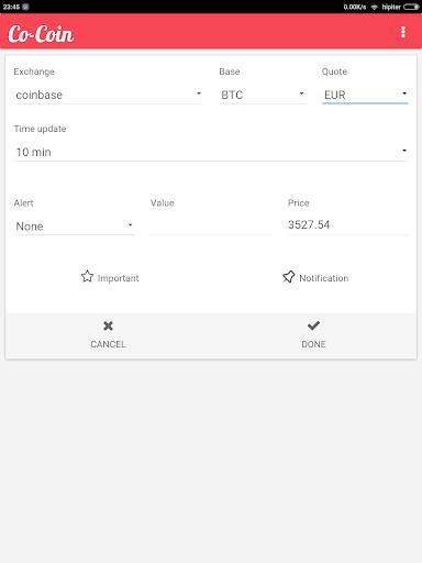 Cocoin Bitcoin Price Checker Screenshot 9