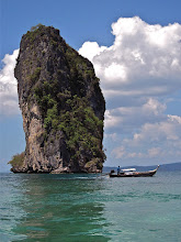Photo: limestone karst in front of Koh Poda