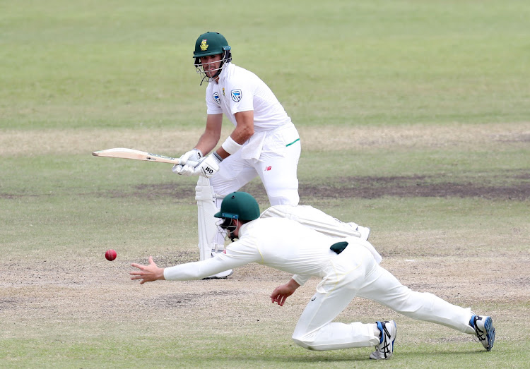 Aiden Markram of South Africa during the 2018 Sunfoil Test Series match between South Africa and Australia at Sahara Kings Park Stadium, Durban South Africa on the 04 March 2018.