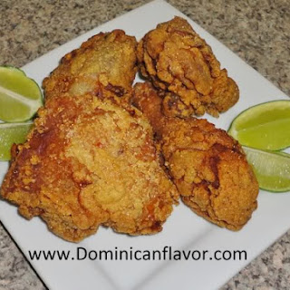 Dominican style Fried Chicken/Pica Pollo (Pollo Frito) Dominicano.