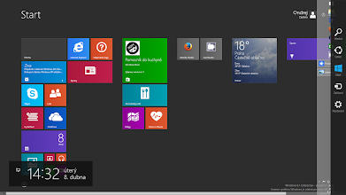 Photo: Windows 8.1 Update 1 Charms Bar  CZ: ...a jednou jsi nahoře/navrchu. http://goo.gl/F6oqgM  /  EN: ...and sometimes you're up/on top. http://goo.gl/F6oqgM