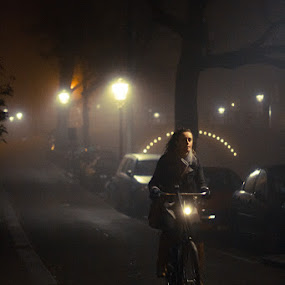Streets of Amsterdam at night by Max Mayorov - Transportation Bicycles