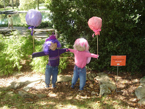 Photo: Purple and Pink Scarecrows by Kira and Nola
