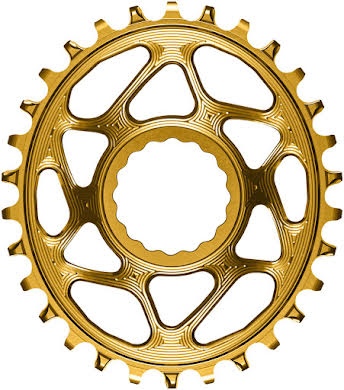 Absolute Black Oval Narrow-Wide Direct Mount Chainring - CINCH Direct Mount, 3mm Offset, Colored  alternate image 10