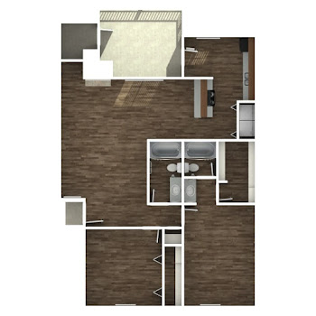 Go to Two Bedroom B Floorplan page.