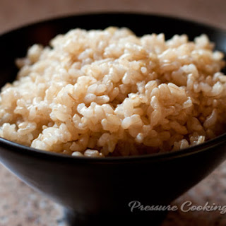 Pressure Cooker Brown Rice.