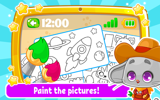 Babyphone & tablet - baby learning games, drawing screenshots 2