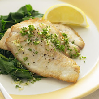 Broiled Fish with Lemon and Parsley.