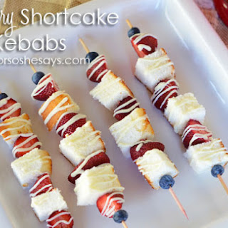 Strawberry Shortcake Kebabs ~ Virtual Baby Shower!