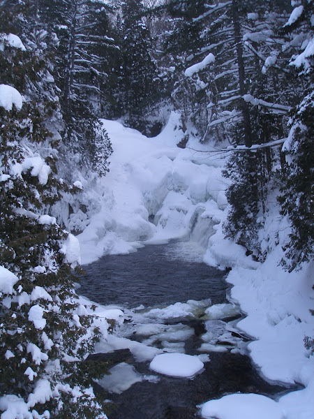 "Photo: Winter view of ""Little Falls"" at about - 35c !"