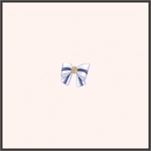 金ボタンのリボン(白)
