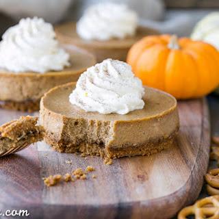 Gluten Free Mini Pumpkin Cheesecakes with Pretzel Crust Recipe