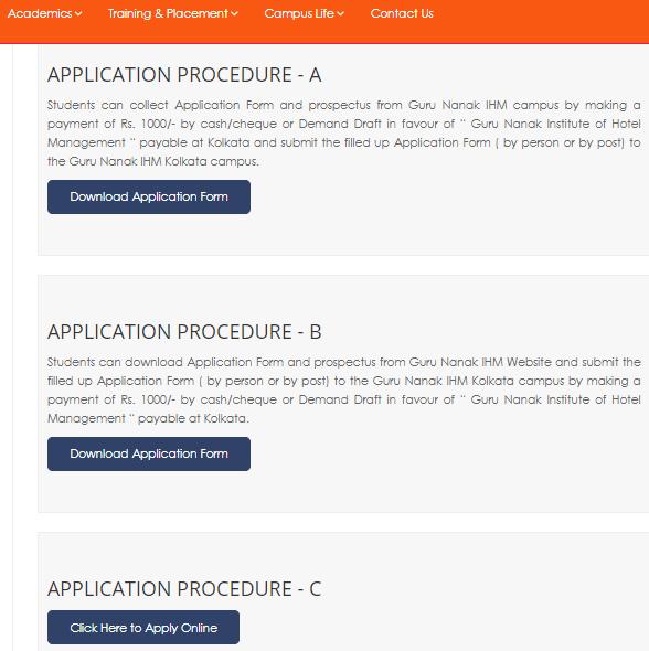 GNIHM JET 2021 Application Procedure