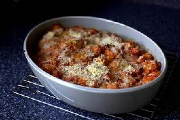 Stewed Tomato Bake Recipe