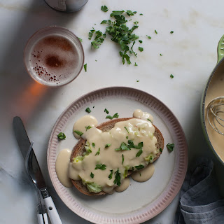 Welsh Rarebit with Melted Leeks