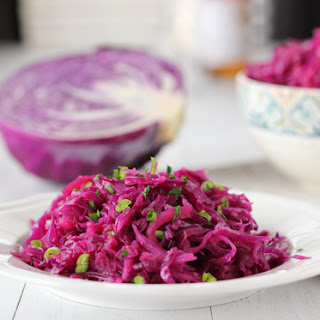 Braised Sweet and Sour Purple Cabbage.