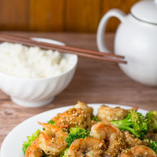 Garlic Shrimp with Broccoli.