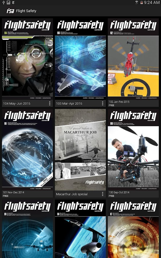 Flight Safety Australia- screenshot
