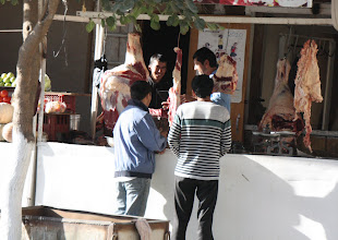 Photo: Day 166 - Butcher's Shop on the Way Out of  Samarqand