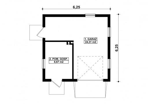G67 - Rzut garażu