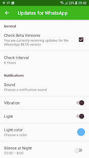 How to update Wasapp - náhled