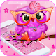 Pink Cartoon Big Eye Owl Theme APK