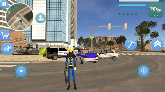 Download Super Stickman Rope Hero Gangstar Crime For PC Windows and Mac apk screenshot 1