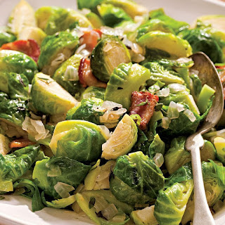Sauteed Brussels Sprouts with Bacon & Onions Recipe