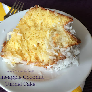 Pineapple Coconut Tunnel Cake