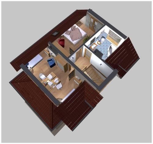 APS 124 - Rzut piętra 3D