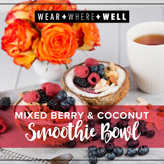 Mixed Berry and Coconut Smoothie Bowl.