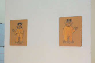 Photo: Cusco is full of museums. Without exception, they do not allow photos to be taken inside. But I just had to cheat when I saw these bathroom signs in one of the art museums we visited ...