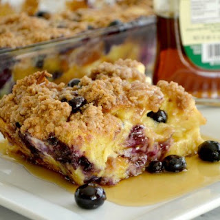 Blueberry Cream Cheese French Toast.