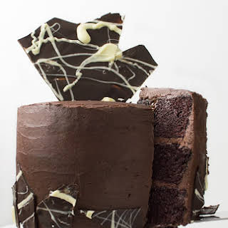 A Double Chocolate Three-Layer Chocolate Cake.