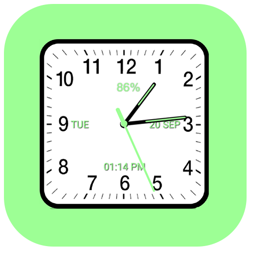 Analog Clock Square Android APK Download Free By Digital World's