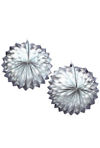 Silver Metallic Glob New Year, 2 st