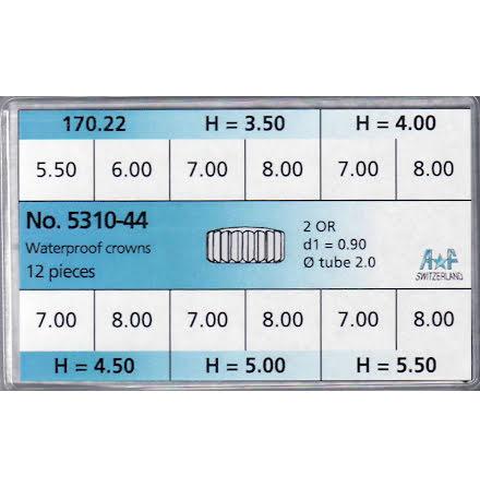 SORT. KRONOR 0,90 TUB200 STÅL 12 ST STÅL 5,5-8 mm