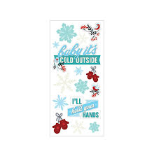 Paper House Puffy Stickers 3X6.35 - Baby Its Cold