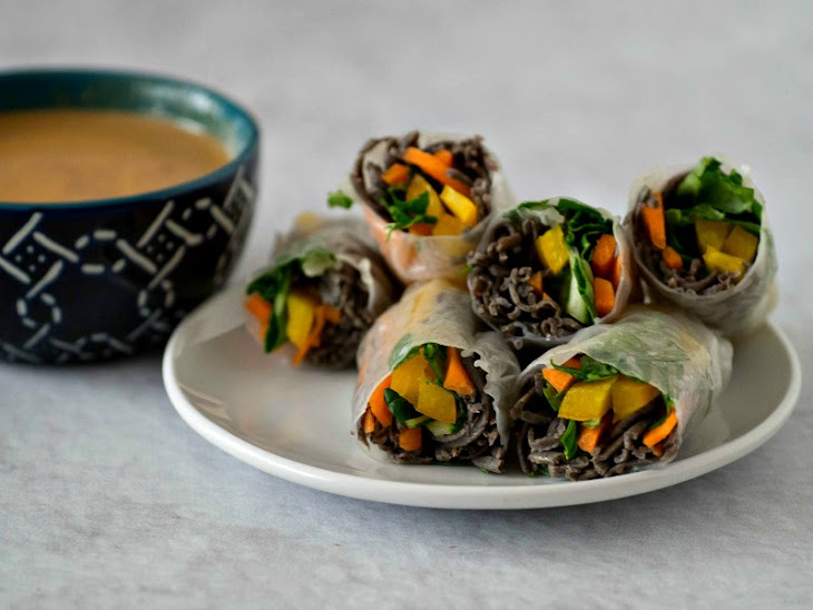 Spring Rolls with Black Bean Noodles Recipe | Yummly