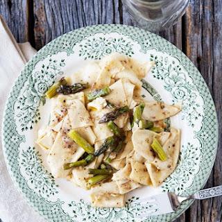 Cacio E Pepe Pasta Handkerchiefs With Asparagus