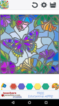 Stained Glass Coloring Book - screenshot thumbnail 06