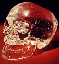 Photo: ONE OF THE FAMOUS MYSTERIOUS (fake) crystal skulls - nice work but recent.