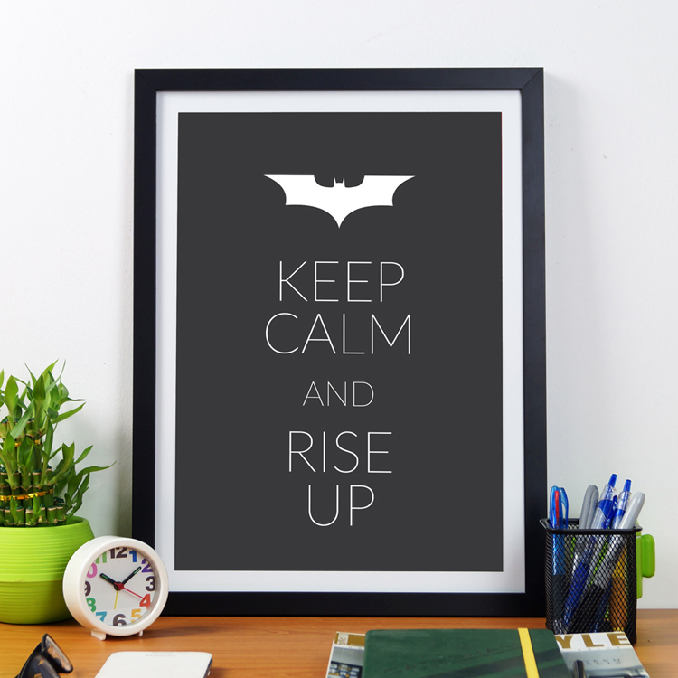 Keep Calm And Rise Up | Framed Poster by Artwave Asia