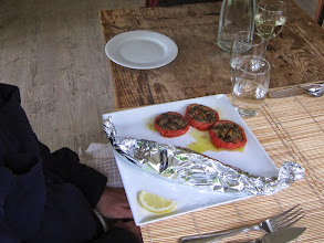 Photo: Terry  and I have Truite en Papillote (well foil, actually) avec Tomates Provencales