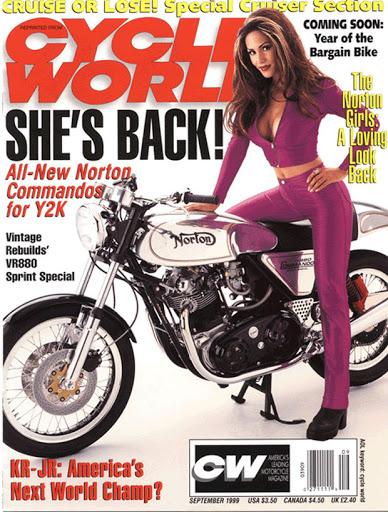 Couverture de Cycle World présentant la nouvelle Norton VR 880.