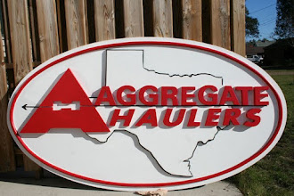 Photo: Carved Signs for Hauling Franchise in Texas...Check out www.nicecarvings.com