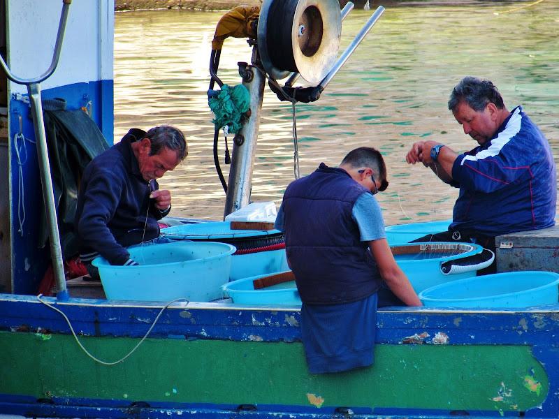 La squadra di pescatori di Giorgio Lucca